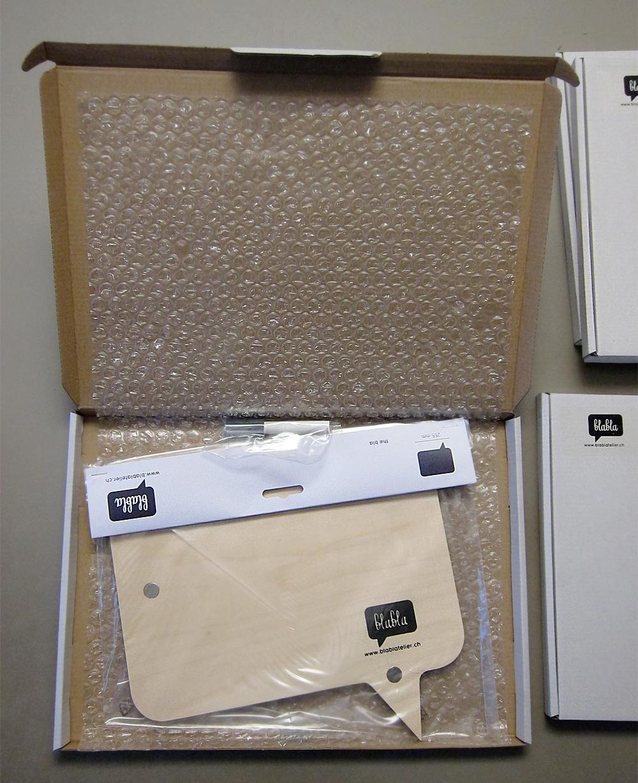 blabla verpackt als Grossbrief